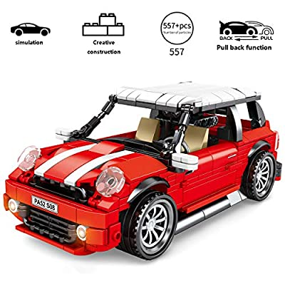 QOUP Car Assembly Toys, high Simulation Models, Pull Back Function, 557 Small Particles Assembled Blocks, Children's Educational Toys, Best Gifts: Home & Kitchen