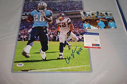 (Chris Johnson Signed 11x14 Tennessee Titans Photograph, PSA DNA Authenticated)