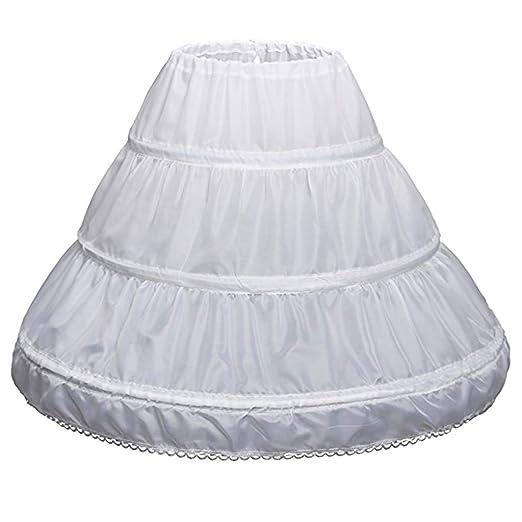 SimpleLife White Niños Enagua Vestido de niña Bajo la Falda ...