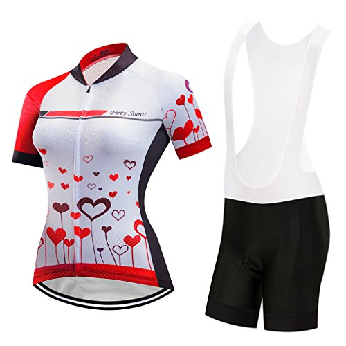 Cycling Jersey Sets Women's Short Sleeve Bicycle Wear Clothing Top Pant Shorts