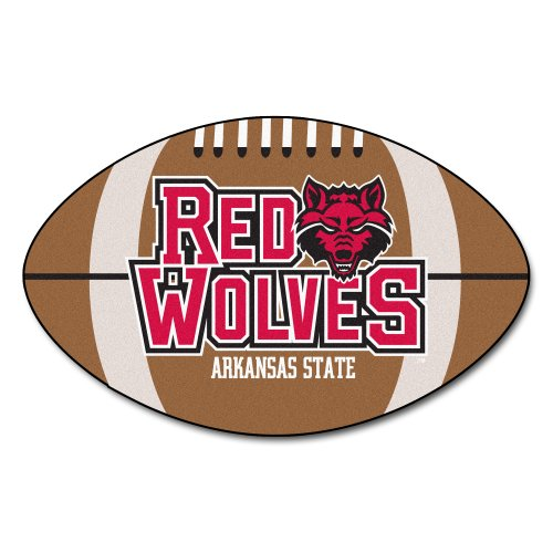 FANMATS NCAA Arkansas State University Red Wolves Nylon Face Football Rug (Arkansas State University Football)