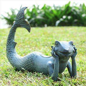 SPI Home 33782 Frog Mermaid Sculpture