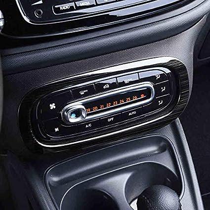 AniFM Pulsantiera Interna Consolle Pulsantiera Cornice del Rivestimento per Mercedes New Smart 453 Fortwo Forfour Car Styling Accessori per la Decorazione dellauto,B