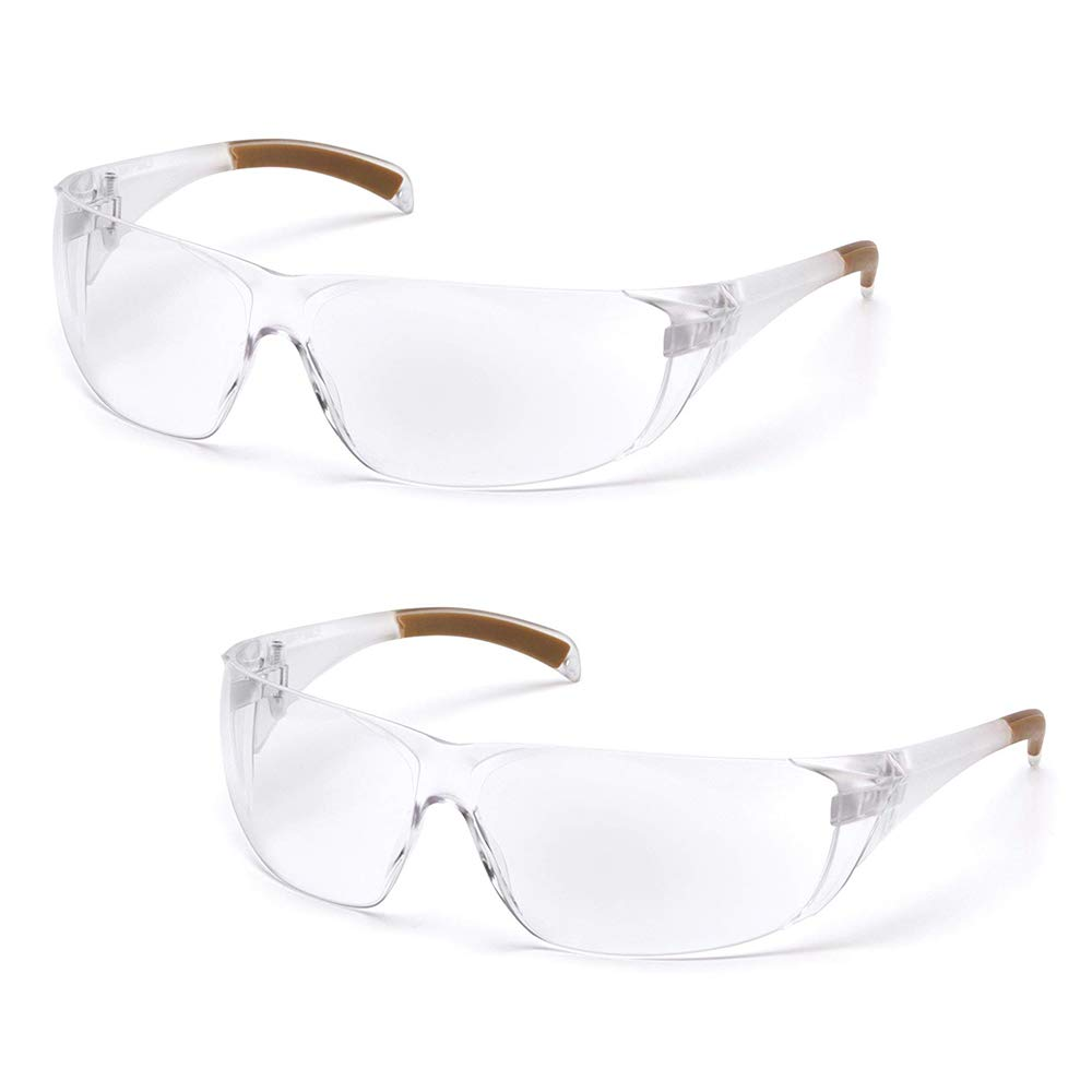 Carhartt Billings Safety Glasses, Clear Frame, Clear Lens (2 Pack) by Carhartt
