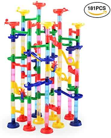 181 pcs Complete Marble Run Super Set Construction Building Blocks Toys, STEM Learning Toy, Educational Building Block Toy