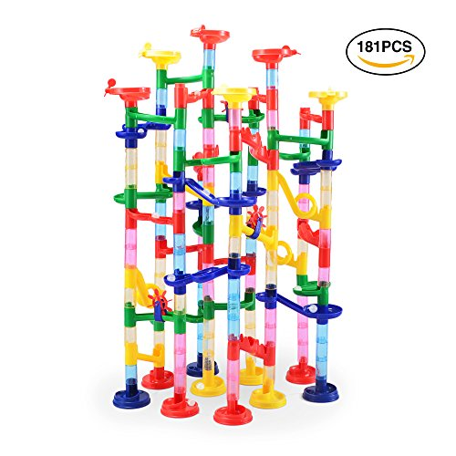 181 pcs Complete Marble Run Super Set Construction Building Blocks Toys, STEM Learning Toy,...