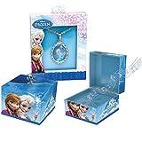 Mr. Christmas Gold Label Disney Frozen Music Box Anna & Elsa Plays Let It Go With Elsa Pendant Necklace
