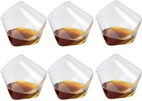 Mooyod Paquete de 6 400ML Copa de Vino Whisky Gafas Bebible ...