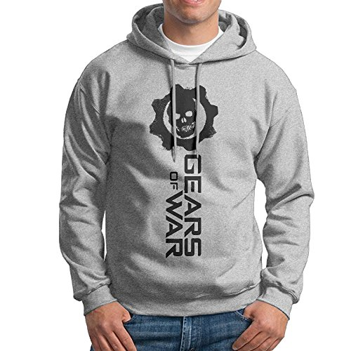[Mmo-J Men's Hoodies Gears Skull War Size M Ash] (Gears Of War Marcus Fenix Costume)