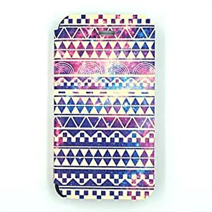 SOL Multi-color Folk Style Pattern PU Leather Full Body Case for iPhone 4/4S