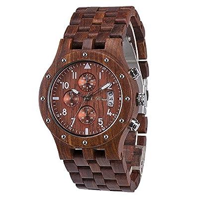 I-TEM Wood-Watch (Red) by I-Tem Brand, LLC