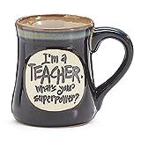 1 X I'm a Teacher Superpower Deep Black 18 Oz Mug