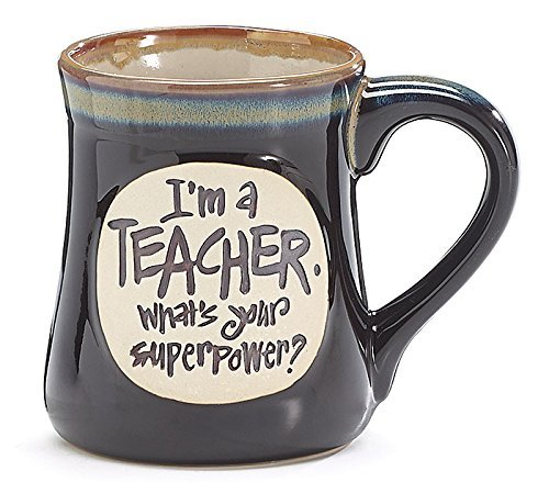 1 X I'm a Teacher Superpower Deep Black 18 Oz Mug -