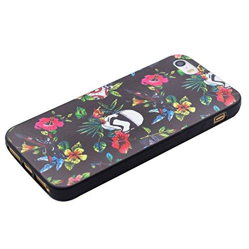 HYAIT® For IPHONE 5S/SE [XXG BLACK V2]Scratch-Proof Ultra Thin Rubber Gel TPU Soft Silicone Bumper Case Cover -BKI04