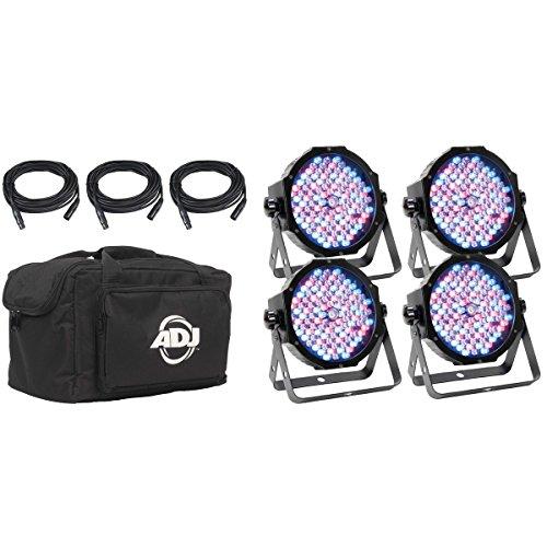 American DJ Mega Flat Pak Plus | 4 Mega Par Profile Plus Lighting System (Stage Lighting Pak)