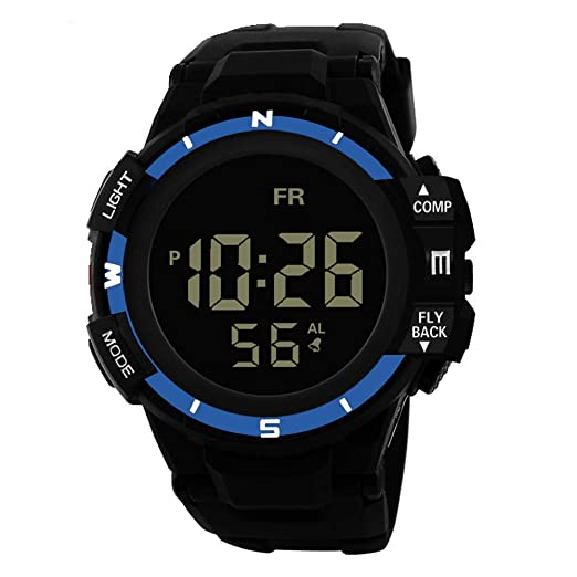 Luxury Men Analog Digital Military Army Sport Led Waterproof Wrist Watch Women Sport Watch Silicone Electronic Watch Waterproof Watches Men's Watches