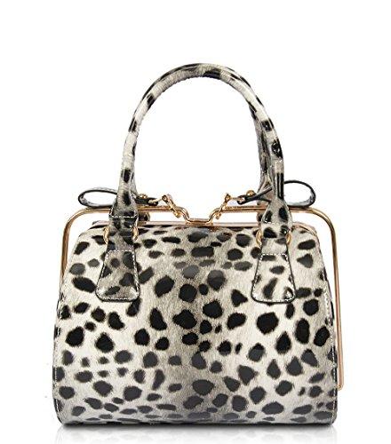 Coco Patent Leopard Print Satchel (Animal Print Satchel)