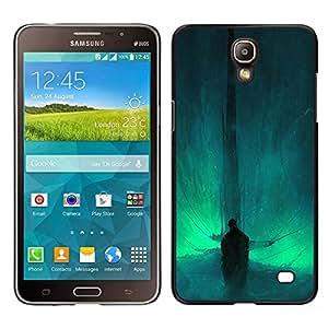 KLONGSHOP // Cubierta de piel con cierre a presión Shell trasero duro de goma Protección Caso - Resumen Bat - Samsung Galaxy Mega 2 //