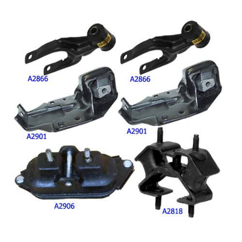 Engine Motor /& Trans Mount For 2000-2005 Chevrolet Impala 3.4L Set 6PCS M776