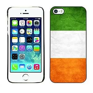 Smartphone Rígido Protección única Imagen Carcasa Funda Tapa Skin Case Para Apple Iphone 5 / 5S National Flag Nation Country Ireland / STRONG