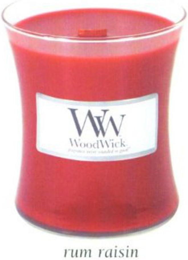 Woodwick 10 oz vela – Ron y pasas