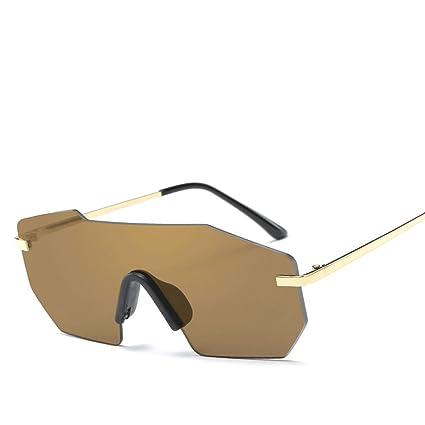 HUACANG Gafas de Sol Vintage Steampunk, conducción UV400 Gafas de Sol Unisex, Square Diamond