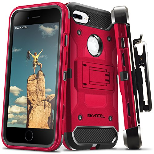 (iPhone 7 Plus/iPhone 6 Plus Case, Evocel [Trio Pro Series] Textured Body, Multiple Layers, Kickstand for iPhone 7 Plus/iPhone 6 Plus/iPhone 6s Plus (5.5