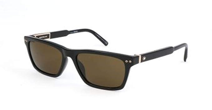 141ebe8e21 Montblanc Mont Blanc Sunglasses Mb694S 01J-56-17-145 Gafas de Sol, Negro  (Schwarz), 56 para Hombre: Amazon.es: Ropa y accesorios