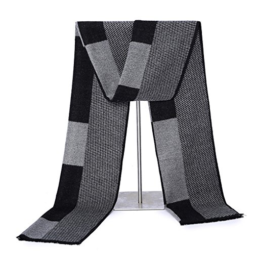 Scarf for Men Cashmere - Long Mens Scarf Cashmere Feel Spring Summer Winter Mens Scarfs Fashion Shawls Color Grey by gugugaga (Image #4)
