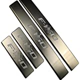 Highitem 4 Door 4PCS Stainless Red LED Door Sill Scuff Plate Guard For Ford F150 F-150 2009-2016