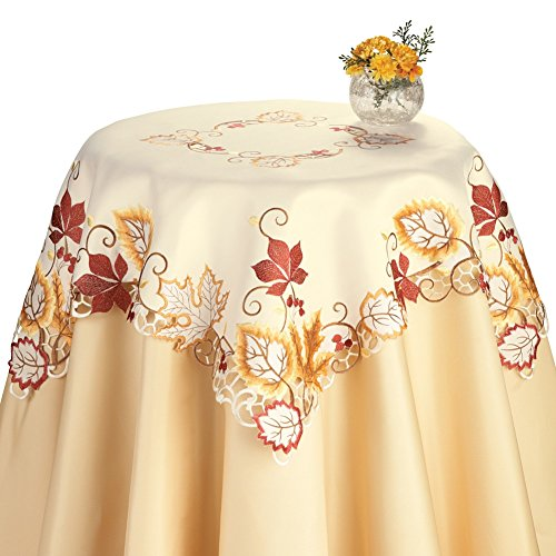 Harvest Maple Leaf Linens, Square, Machine (Maple Round Accent Table)
