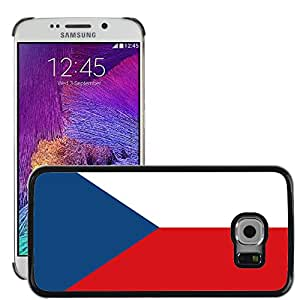 GoGoMobile Slim Protector Hard Shell Cover Case // V00001043 czech republic National Country Flag // Samsung Galaxy S6 EDGE (Not Fits S6)