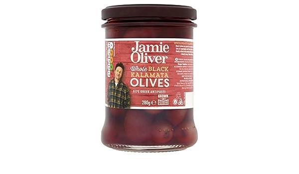 Jamie Oliver enteros aceitunas negras 245g: Amazon.es: Alimentación y bebidas
