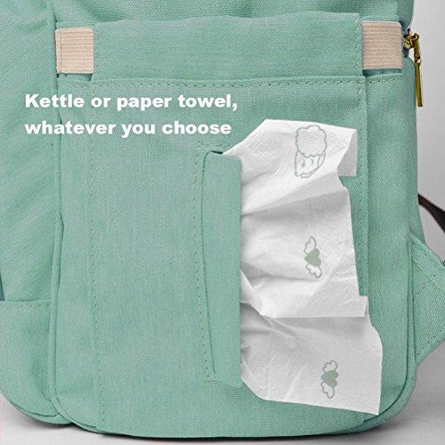 lokep bolsa de pañales multifunción impermeable mochila de viaje bolsas de pañales para cuidado del bebé, gran capacidad, elegante y duradero verde verde verde