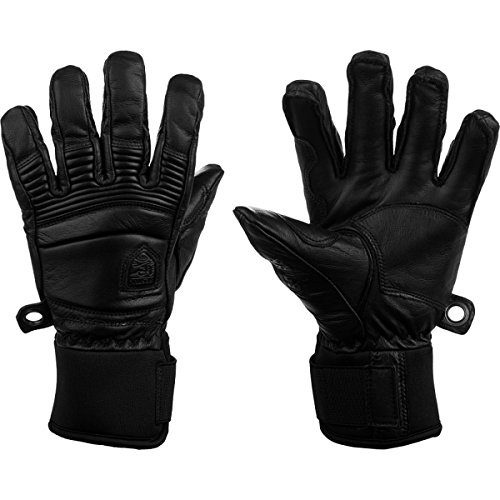 Hestra Fall Line Leather Short Ski, Ride and Park Glove,Black,10 by Hestra