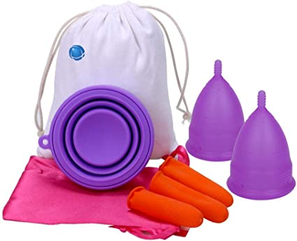 Copa menstrual, suave, reutilizable, silicona médica ...