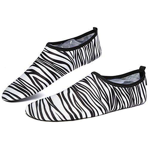 Water Shoes,Nasonberg Unisex Quick Drying Water Skin Shoes for Beach Swim Surf Yoga Aqua Socks White