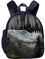 Cold-blooded Iguana Animal Kids School Backpack