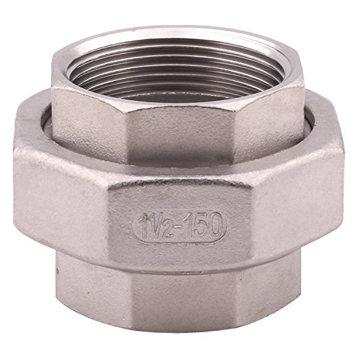 """(Cast Pipe Fittings Union – 1 1/2"""" NPT Female Fitting Stainless Steel 304, Class 150)"""