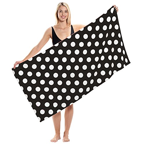 Terry Velour Polka Dot Beach Towel (1 Towel,