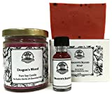 Art of the Root Dragons Blood Spell Kit includes Candle, Soap & Oil for Love, Power, Protection & Purification (hoodoo, wiccan, pagan, magick)