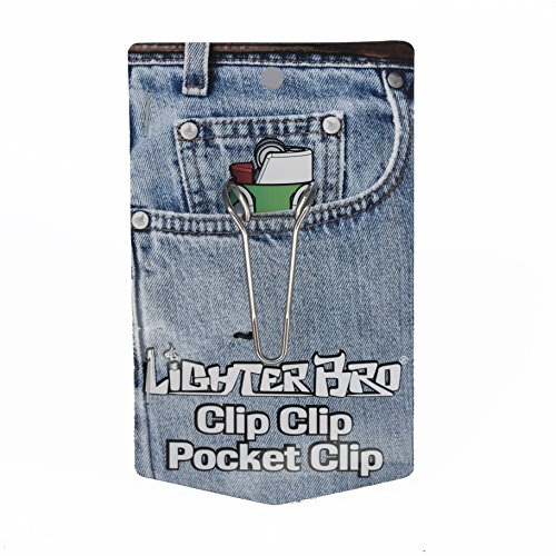 LighterBro ClipClip Pocket/Belt Clip Accessory for Bic Lighter Multitool (silver) -DOES NOT INCLUDE THE LIGHTERBO-