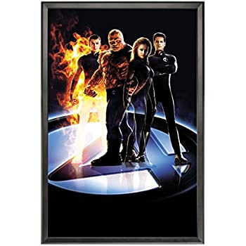 movie poster frame 27x40 inch black snapezo profile home theater poster frame. Black Bedroom Furniture Sets. Home Design Ideas
