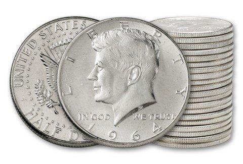 1964 Kennedy Half Dollar 20-Coin Roll Proof (Dollar Kennedy Proof Roll Half)