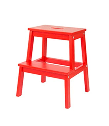 Awesome Amazon Com Zfgg Wood Step Stool Two Step Ladder Foldable Ibusinesslaw Wood Chair Design Ideas Ibusinesslaworg
