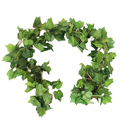 - Crt Gucy 38 Ft - 5 Strands Autumn Artificial Grape Leaf Garland Fall Decoration for Home Wedding Wall Party