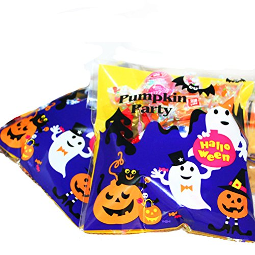 Halloween Cookies Candy Bag Mini Sweet Wrapping Supplies for Halloween Party Favors, 4x4 Inch, 200PCS ()