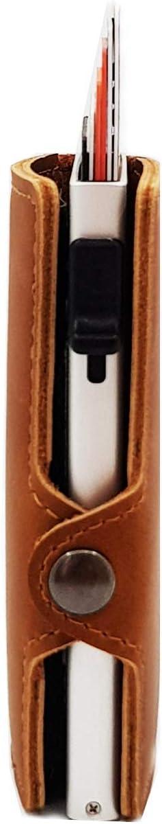 Cartes de cr/édit etuis Blocage RFID Porte-Cartes SENUR Portefeuille Fin en Cuir Portefeuille avec Protection RFID Unisexe /Étui /à Carte de cr/édit avec Clip Porte-Cartes de cr/édit