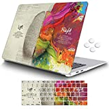 iCasso MacBook Air 13 Inch Case 2018 Release A1932 with Retina Display, Durable Rubber Coated Plastic Cover with Keyboard Cover Compatible Newest MacBook Air 13 with Touch ID, Left Right Brain