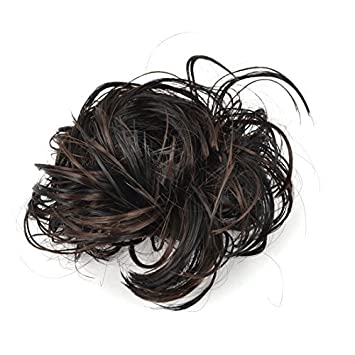 eDealMax Corto y rizado peluca Estilo Cola de Caballo señoras elásticos Cinta de cabeza, de